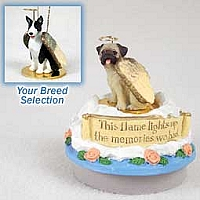 Bull Terrier Brindle Candle Topper Tiny One Pet Angel Ornament