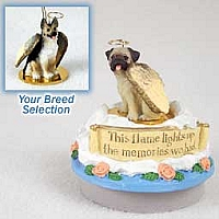 German Shepherd Tan & Black Candle Topper Tiny One Pet Angel Ornament