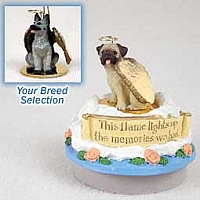 German Shepherd Black & Silver Candle Topper Tiny One Pet Angel Ornament