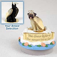 German Shepherd Black Candle Topper Tiny One Pet Angel Ornament