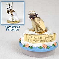Great Dane Harlequin w/Uncropped Ears Candle Topper Tiny One Pet Angel Ornament
