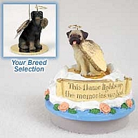 Doberman Pinscher Black w/Uncropped Ears Candle Topper Tiny One Pet Angel Ornament