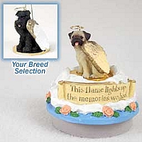 Schnauzer Black w/Uncropped Ears Candle Topper Tiny One Pet Angel Ornament