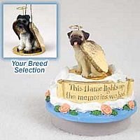 Schnauzer Gray w/Uncropped Ears Candle Topper Tiny One Pet Angel Ornament