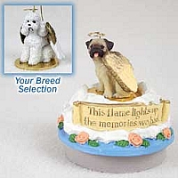 Poodle White w/Sport Cut Candle Topper Tiny One Pet Angel Ornament