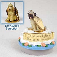 Poodle Apricot w/Sport Cut Candle Topper Tiny One Pet Angel Ornament