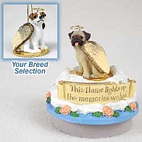 Jack Russell Terrier Brown & White w/Smooth Coat Candle Topper Tiny One Pet Angel Ornament