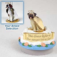 Pointer Brown & White Candle Topper Tiny One Pet Angel Ornament