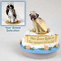 Pointer Black & White Candle Topper Tiny One Pet Angel Ornament