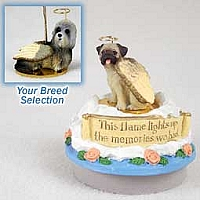 Dandie Dinmont Candle Topper Tiny One Pet Angel Ornament