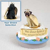 Cocker Spaniel English Black Candle Topper Tiny One Pet Angel Ornament