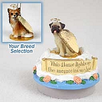 Chihuahua Longhaired Candle Topper Tiny One Pet Angel Ornament