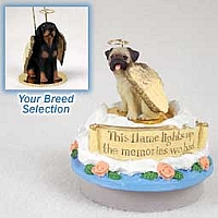 Coonhound Black & Tan Candle Topper Tiny One Pet Angel Ornament