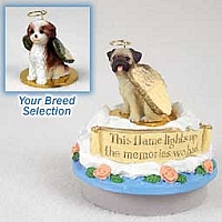 Shih Tzu Tan w/Sport Cut Candle Topper Tiny One Pet Angel Ornament