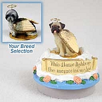 Lhasa Apso Gray w/Sport Cut Candle Topper Tiny One Pet Angel Ornament