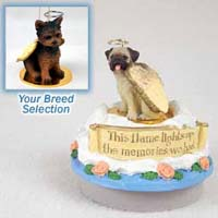 Yorkshire Terrier Puppy Cut Candle Topper Tiny One Pet Angel Ornament