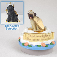 Labradoodle Black Candle Topper Tiny One Pet Angel Ornament Candle