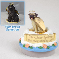 Labradoodle Chocolate Candle Topper Tiny One Pet Angel Ornament Candle