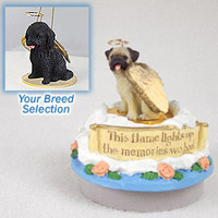 Cockapoo Black Candle Topper Tiny One Pet Angel Ornament Candle