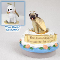 Cockapoo White Candle Topper Tiny One Pet Angel Ornament Candle