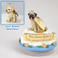 Cockapoo Blond Candle Topper Tiny One Pet Angel Ornament Candle