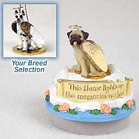 Great Dane Harlequin Candle Topper Tiny One Pet Angel Ornament
