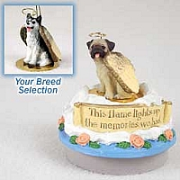 Husky Black & White w/Brown Eyes Candle Topper Tiny One Pet Angel Ornament