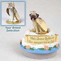 Husky Red & White w/Blue Eyes Candle Topper Tiny One Pet Angel Ornament