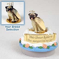 Pug Fawn Candle Topper Tiny One Pet Angel Ornament