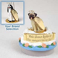 Springer Spaniel Black & White Candle Topper Tiny One Pet Angel Ornament