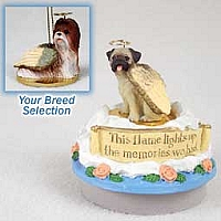 Shih Tzu Tan Candle Topper Tiny One Pet Angel Ornament