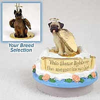 Boxer Tawny Candle Topper Tiny One Pet Angel Ornament