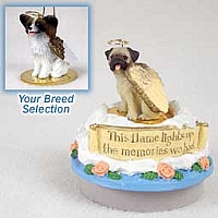 Papillon Brown & White Candle Topper Tiny One Pet Angel Ornament