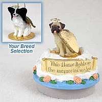 Papillon Black & White Candle Topper Tiny One Pet Angel Ornament