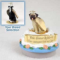 Greyhound Black & White Candle Topper Tiny One Pet Angel Ornament