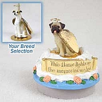Greyhound Tan & White Candle Topper Tiny One Pet Angel Ornament