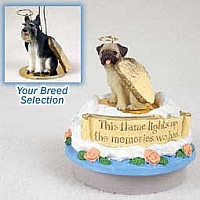 Schnauzer Giant Gray Candle Topper Tiny One Pet Angel Ornament