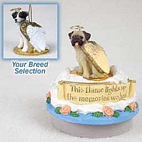 Jack Russell Terrier Brown & White w/Rough Coat Candle Topper Tiny One Pet Angel Ornament