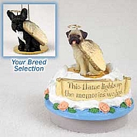 French Bulldog Candle Topper Tiny One Pet Angel Ornament