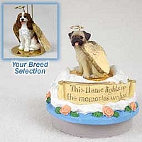 Cavalier King Charles Spaniel Brown & White Candle Topper Tiny One Pet Angel Ornament