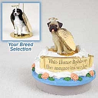 Cavalier King Charles Spaniel Black & White Candle Topper Tiny One Pet Angel Ornament