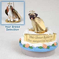 English Setter Belton Orange Candle Topper Tiny One Pet Angel Ornament