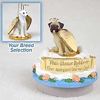 Whippet White Candle Topper Tiny One Pet Angel Ornament