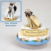 Whippet Brindle & White Candle Topper Tiny One Pet Angel Ornament