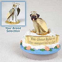 Whippet Tan & White Candle Topper Tiny One Pet Angel Ornament