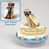 Border Terrier Candle Topper Tiny One Pet Angel Ornament