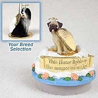Bearded Collie Candle Topper Tiny One Pet Angel Ornament