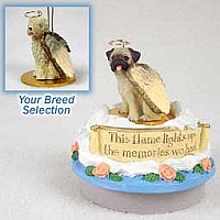 Soft Coated Wheaten Terrier Candle Topper Tiny One Pet Angel Ornament