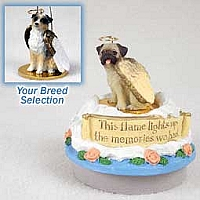 Australian Shepherd Blue w/Docked Tail Candle Topper Tiny One Pet Angel Ornament