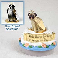 Australian Shepherd Tricolor Candle Topper Tiny One Pet Angel Ornament